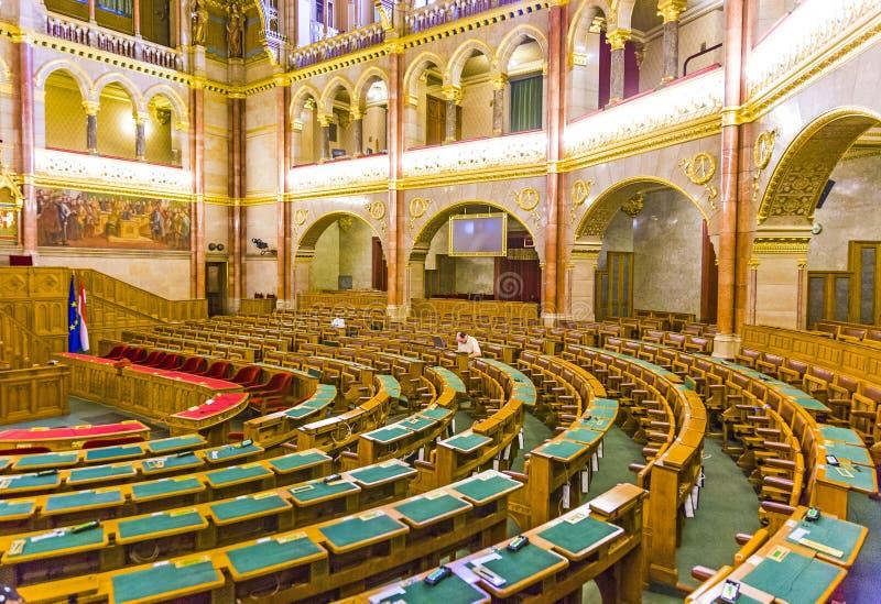 O parlamento húngaro em Budapest fotos de stock