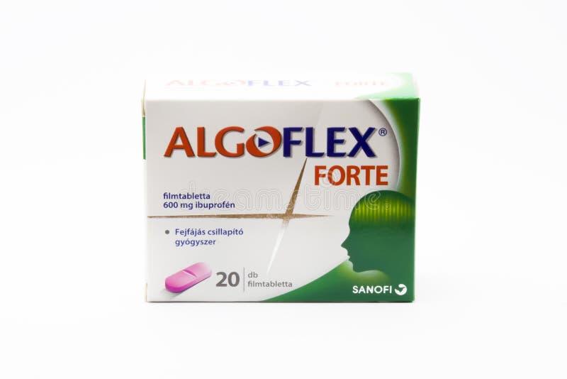 Budapest, Hungria - 10 de julho de 2018: Droga do forte de Algoflex Usado a fotos de stock
