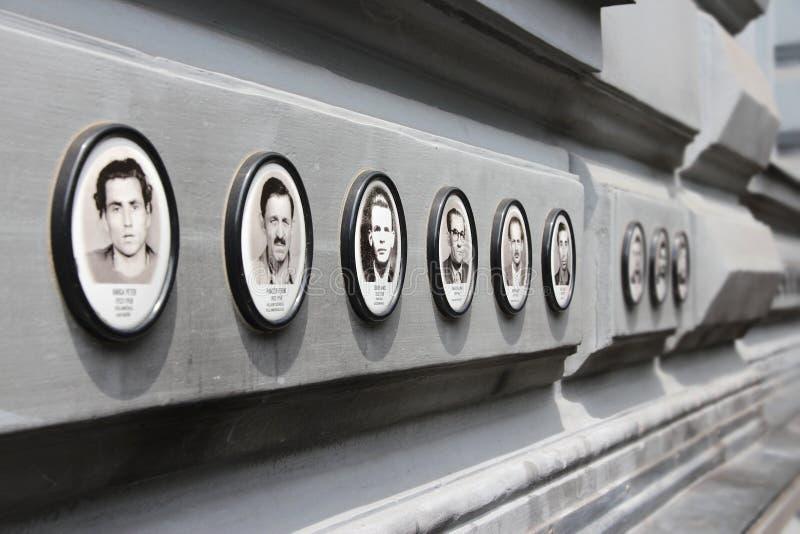Budapest hus av skräcken arkivbild