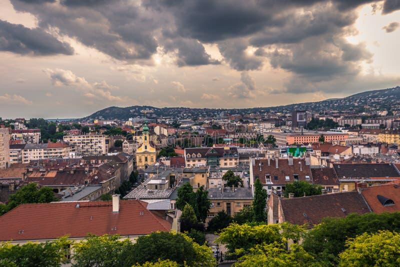 Budapest - 22 juin 2019 : Vue panoramique de la ville de Budapest, Hongrie image stock