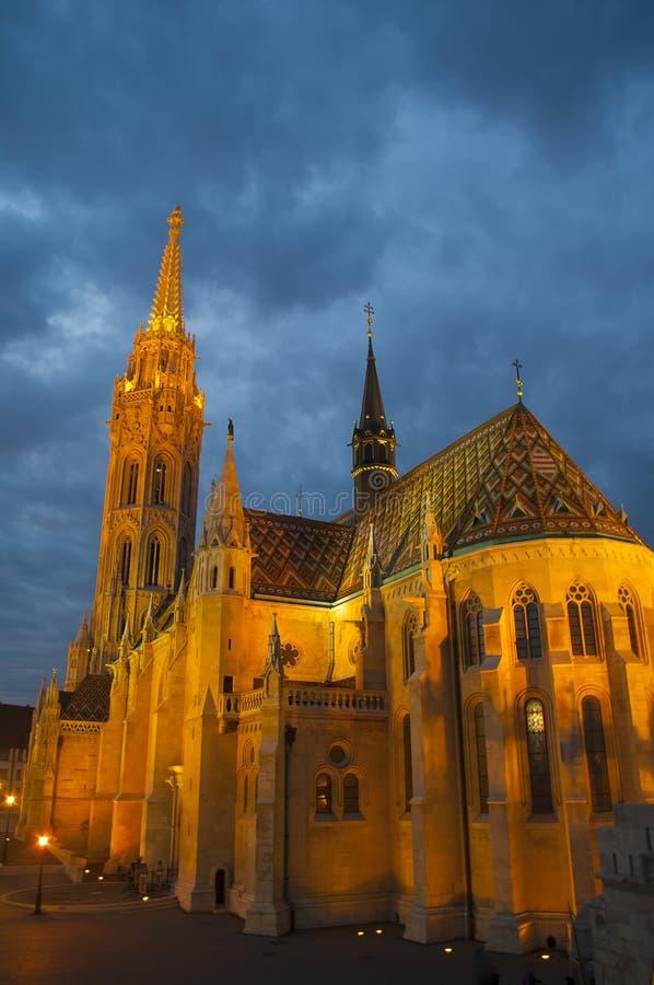 budapest kyrkliga hungary mathias royaltyfria bilder