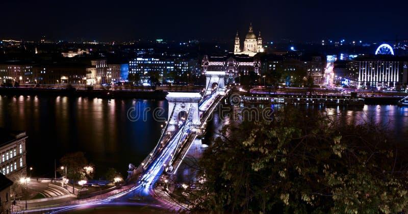 Budapest la nuit image stock