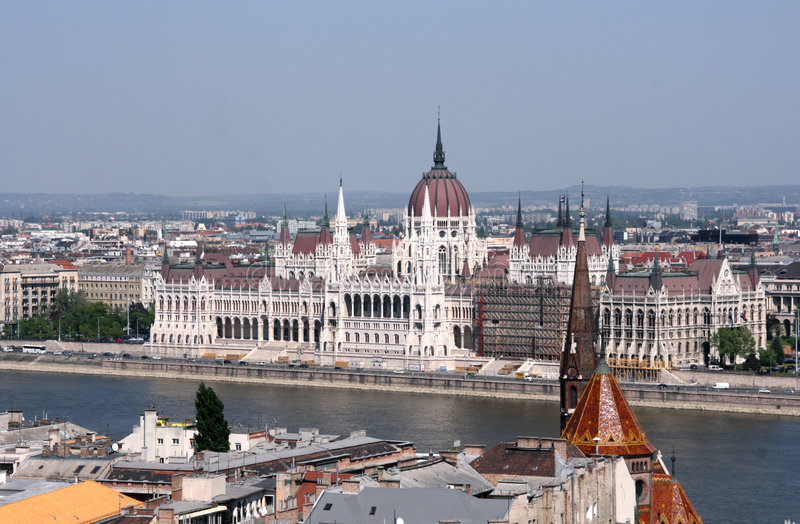 Budapest - Le Parlement Photos stock