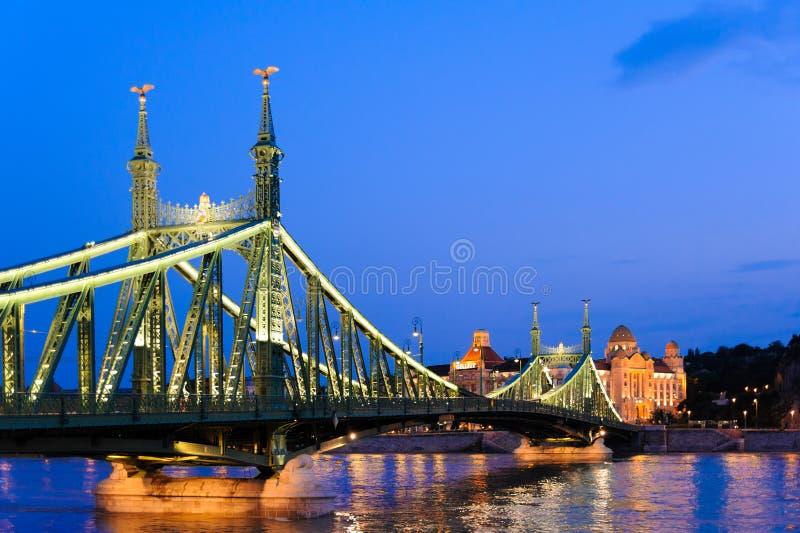 Budapest Liberty Bridge immagini stock