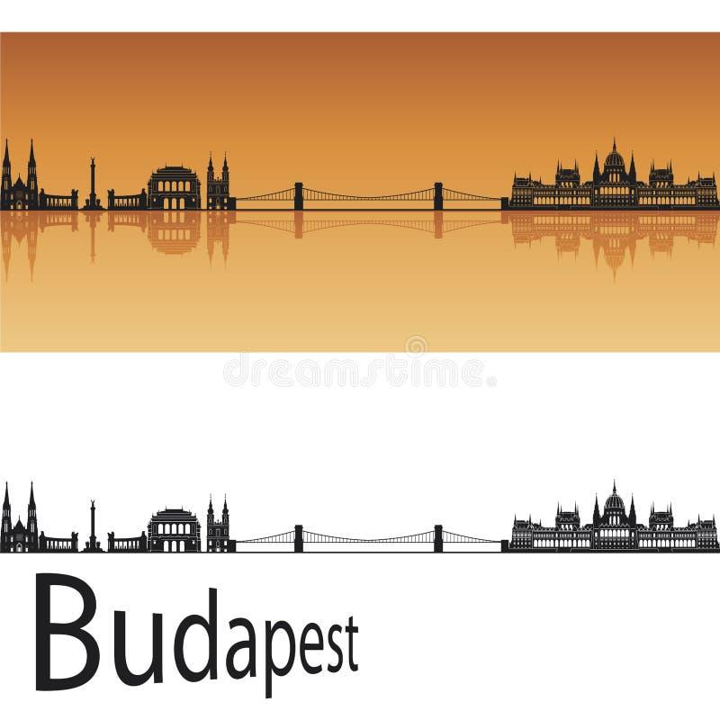 budapest linia horyzontu royalty ilustracja