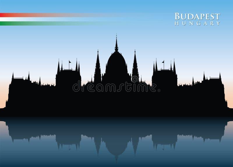 Budapest linia horyzontu ilustracji