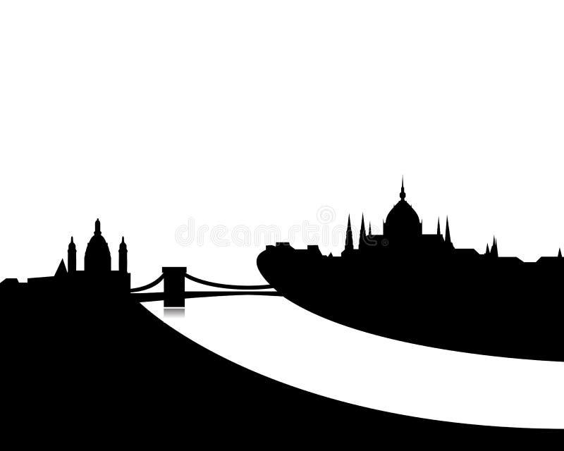 budapest linia horyzontu wektor ilustracja wektor