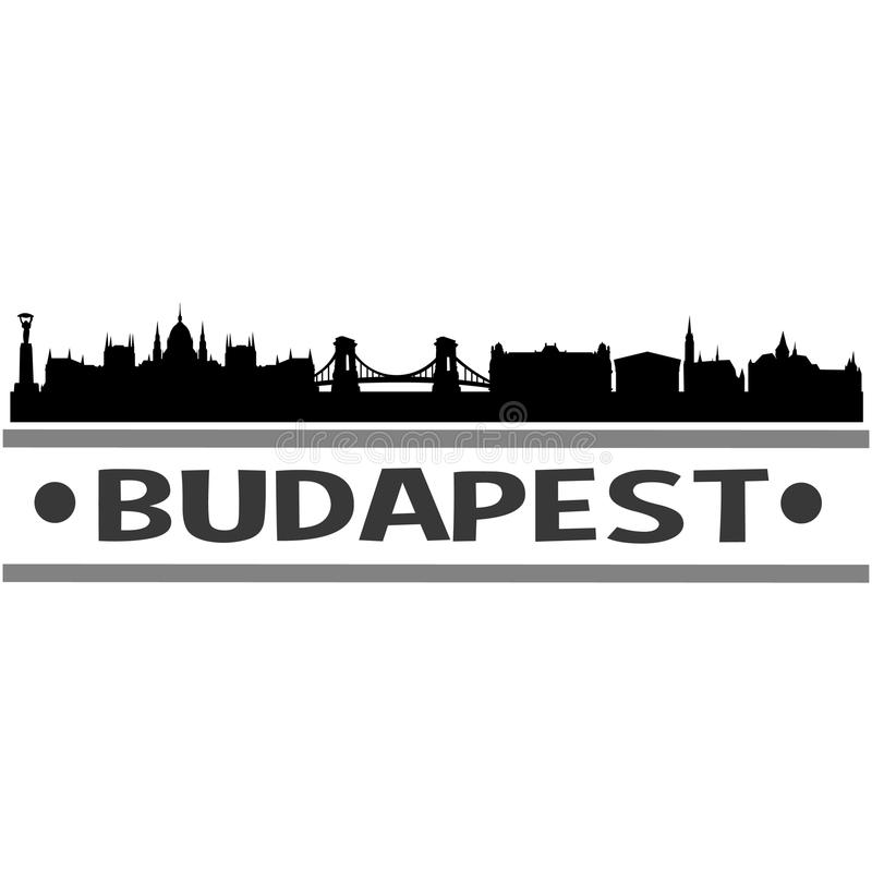 Budapest linii horyzontu miasta ikony sztuki Wektorowy projekt ilustracja wektor