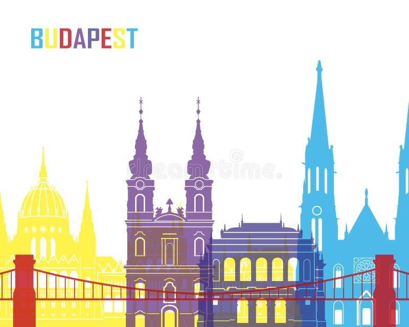 Budapest linii horyzontu wystrzał ilustracji
