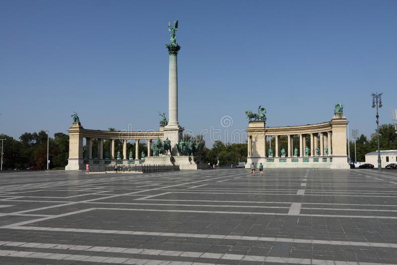 Budapest, lugar de los hereos foto de archivo libre de regalías