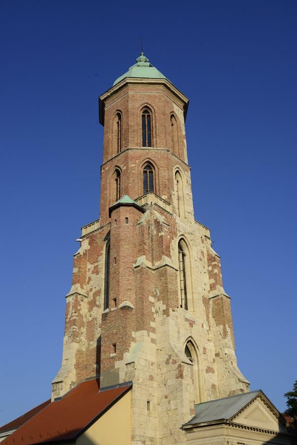 Budapest Mary Magdalene Tower images stock