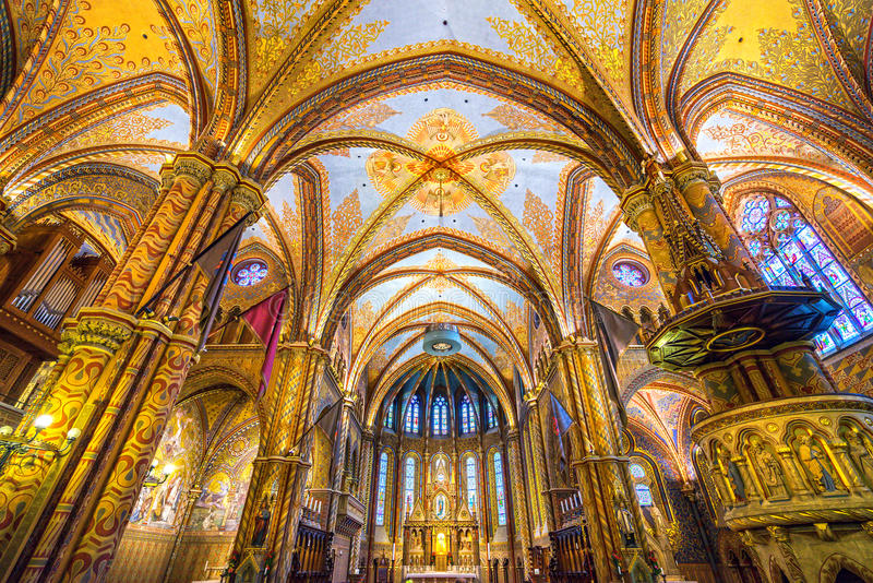 Budapest, Mathias Cathedral, Ungheria fotografia stock libera da diritti