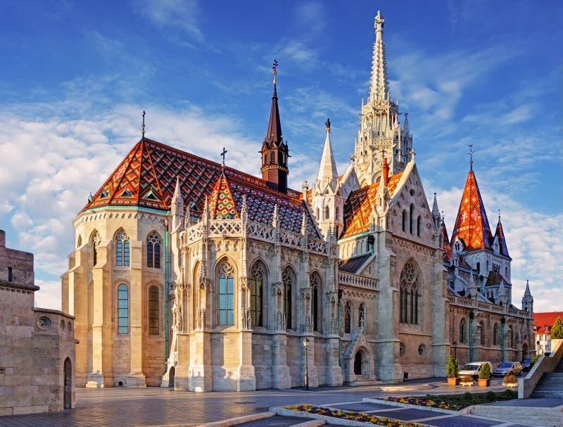 Budapest - Mathias Church på dagen arkivbilder
