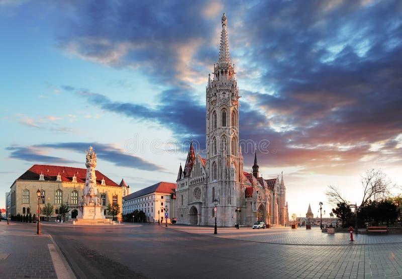 Budapest - Mathias church square, Hungary.  royalty free stock image
