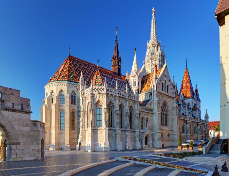 Budapest - Mathias kyrka, Ungern arkivbilder