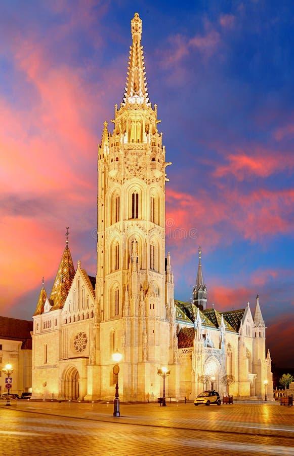 Budapest - Mathias kyrka, Ungern fotografering för bildbyråer