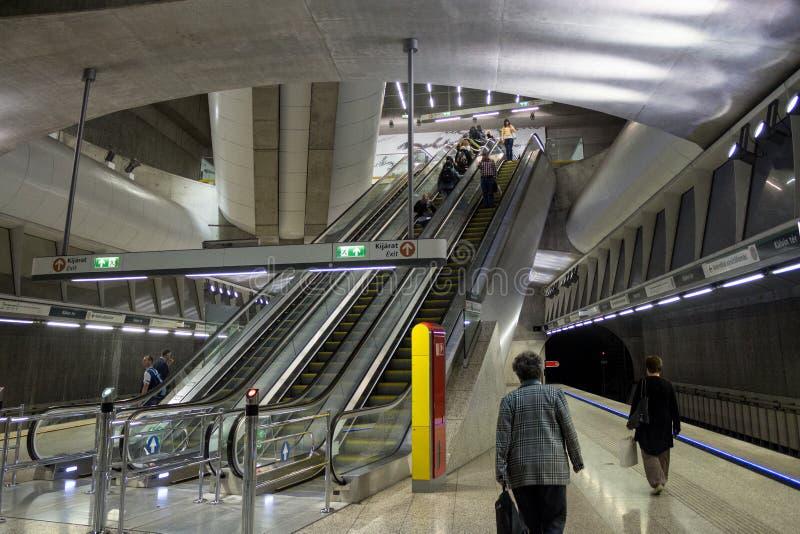 Budapest metro line green 4 royalty free stock photos