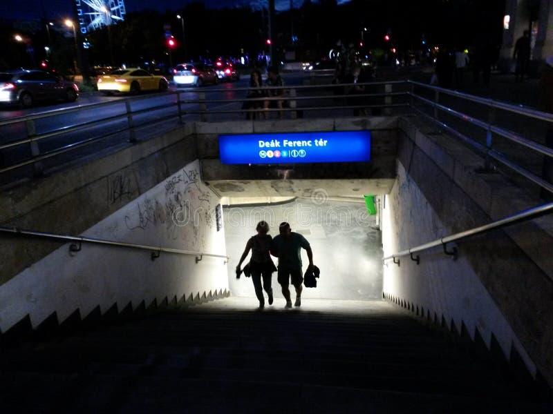 Budapest-Metro-Station lizenzfreies stockbild