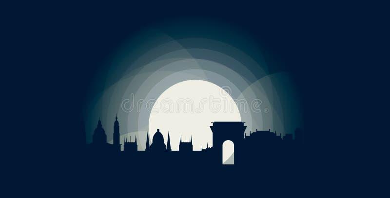 Budapest miasta linii horyzontu loga chłodno ilustracja royalty ilustracja