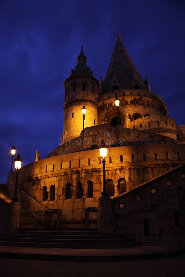 Budapest na noite fotografia de stock