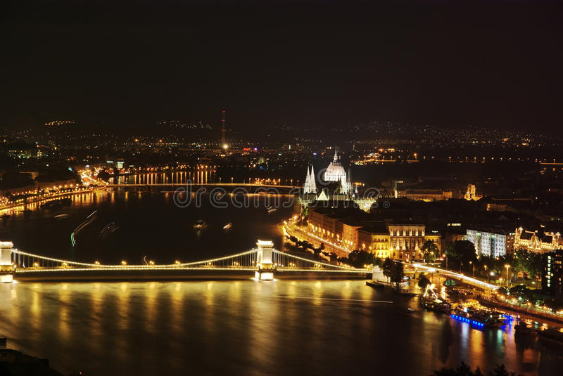 Download Budapest by night stock photo. Image of capital, galleries - 10157062