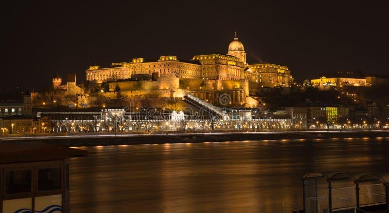 Budapest at night royalty free stock photos