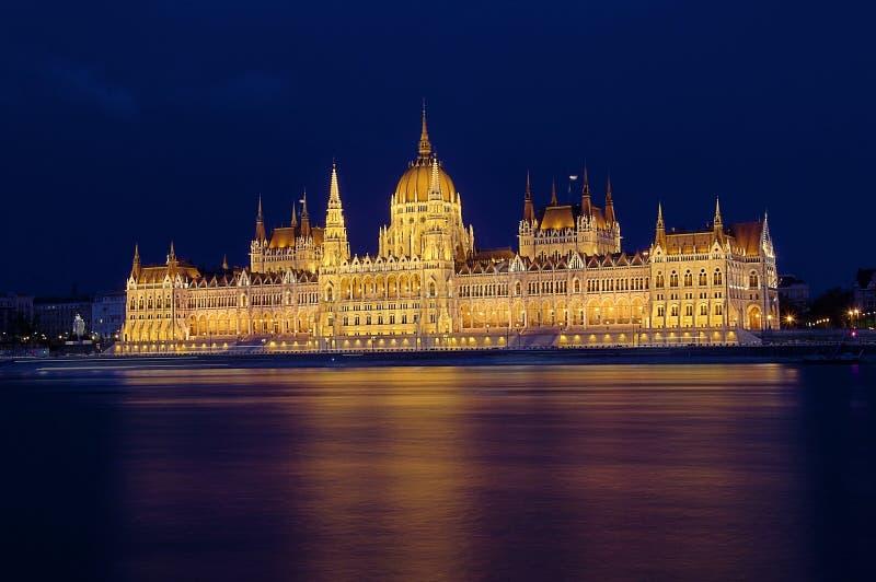 budapest noc parlament obrazy stock