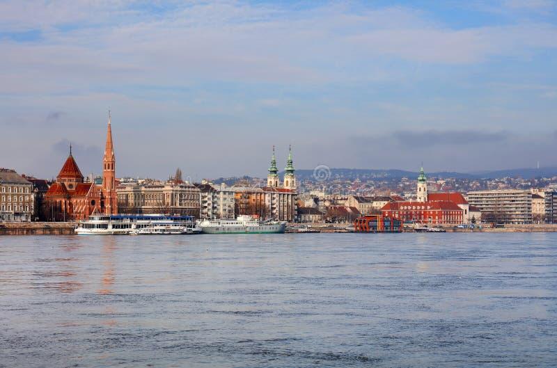 Budapest och Danubet River arkivbild