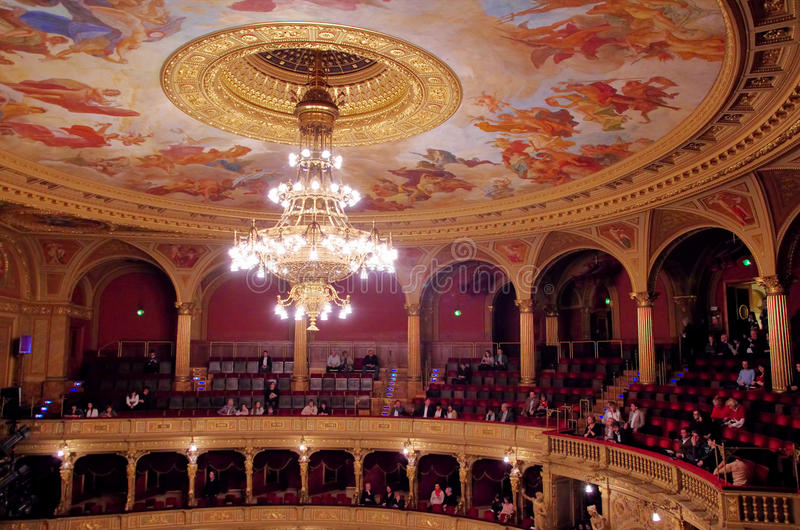 Budapest Opera House interior stock photo