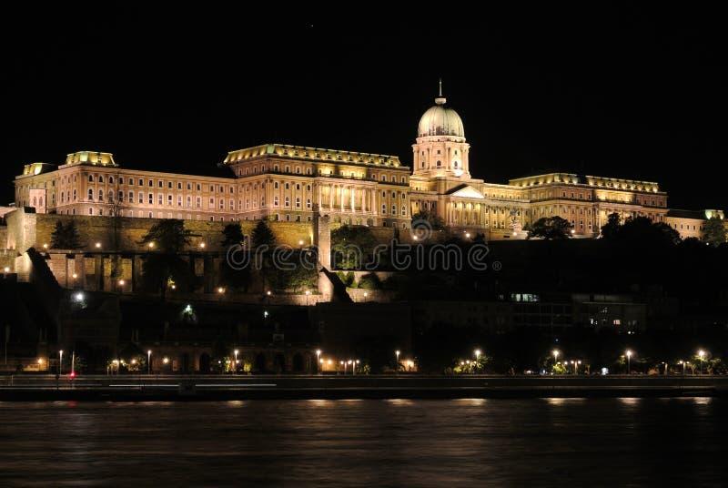Budapest på natt 1 royaltyfri fotografi
