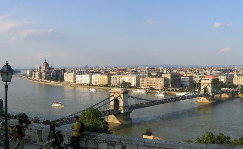 Download Budapest panorama 1 stock image. Image of columns, mozaic - 184699