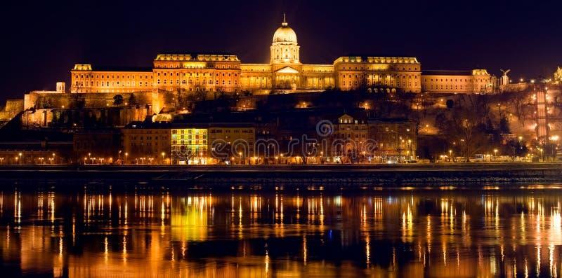 Budapest panorama by night stock image