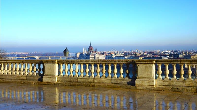 Budapest panoramy widok od Budy wzgórza obrazy stock
