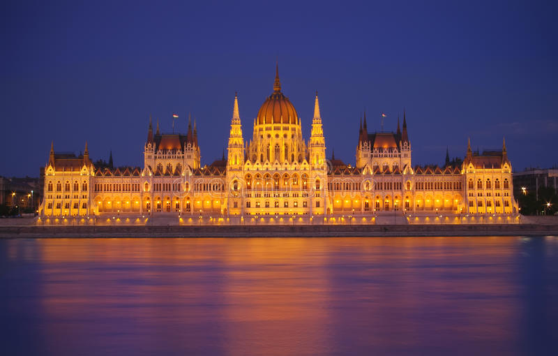 Download Budapest Parliament, Night Scene Stock Image - Image: 25227551