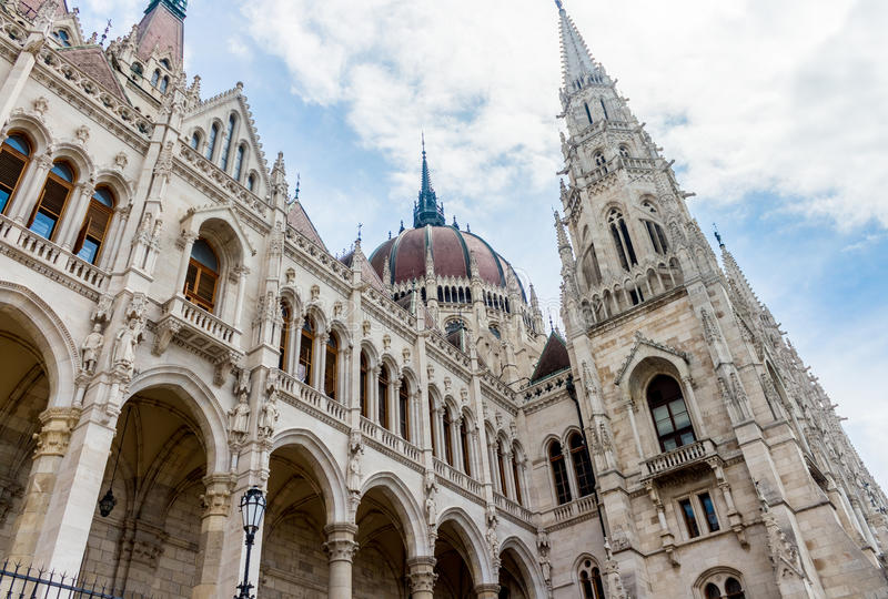 Budapest parliament side stock image
