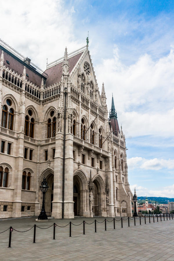 Budapest parliament side royalty free stock photo