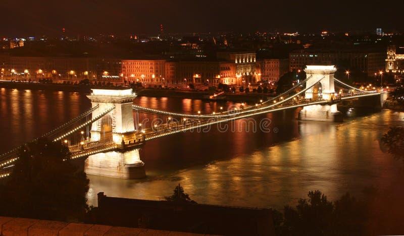 Budapest, ponticello chain immagini stock libere da diritti