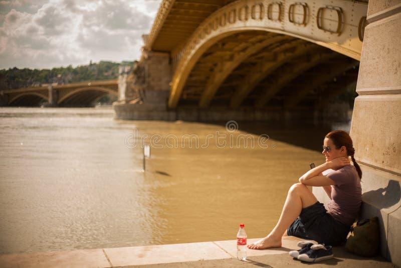Budapest powodzie zdjęcia royalty free