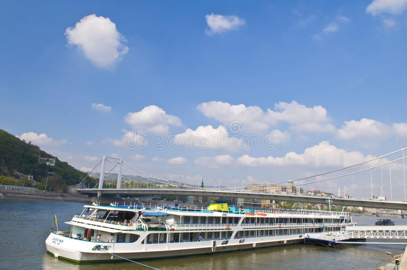 Budapest riverboat royalty free stock image