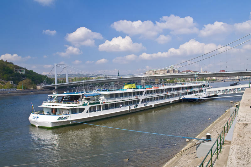 Budapest riverboat stock images