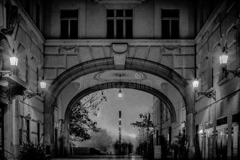 Budapest in sera fotografia stock