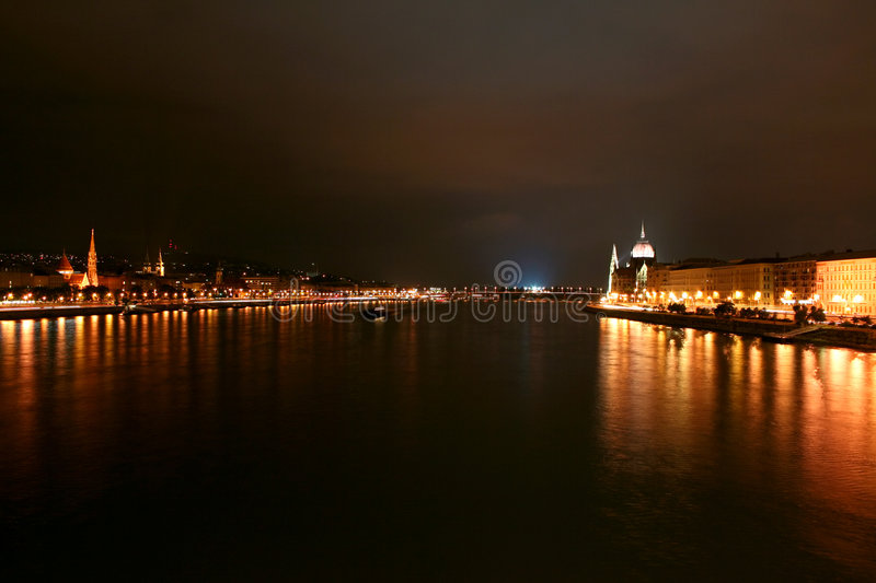Budapest, side view of parliament stock photography