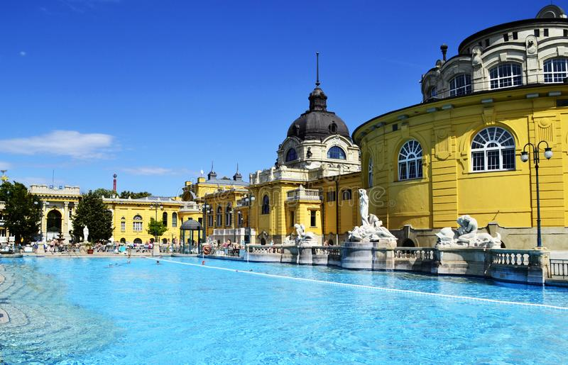 Budapest Spa Szechenyi Bath, Hungary stock photos