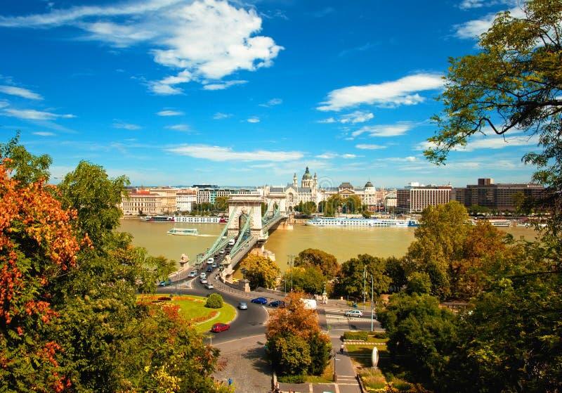 Budapest-Stadt im Herbst stockbild
