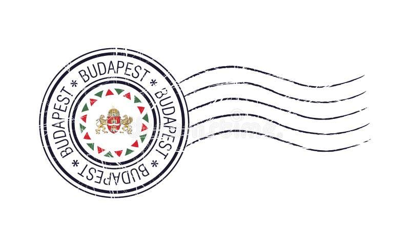 Budapest-Stadtschmutz-Poststempel vektor abbildung