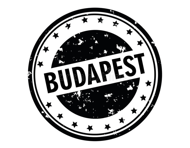 Budapest-Stempel vektor abbildung