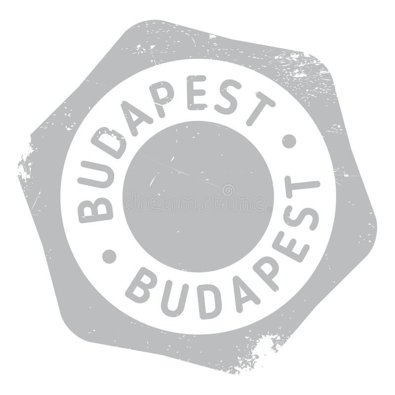 Budapest-Stempelgummischmutz stock abbildung