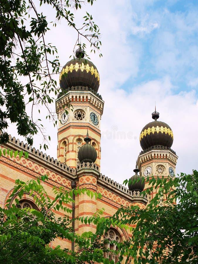 budapest stor synagoga fotografering för bildbyråer