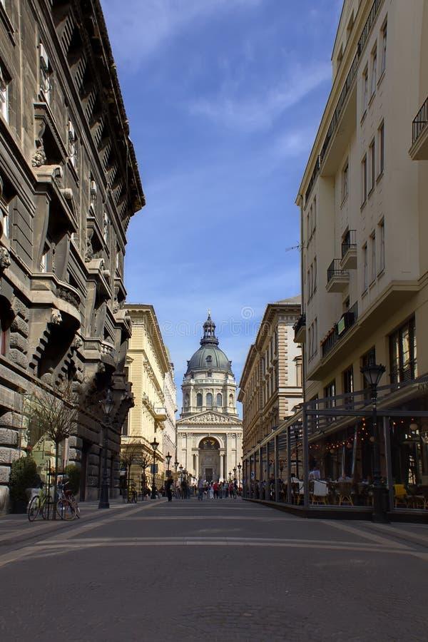 Budapest Street Scene royalty free stock images