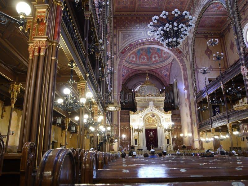Budapest synagoga 4 royaltyfria foton